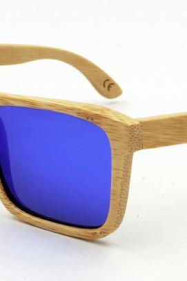 Retro Bamboo Sunglasses UV400 Polarized Glasses